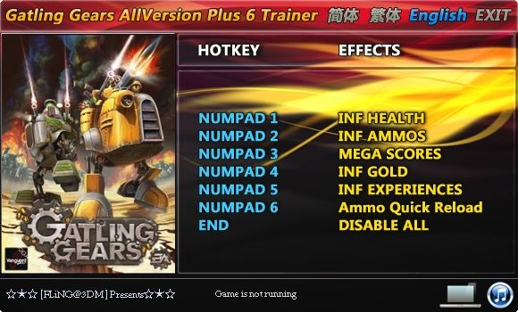 Gatling Gears +6 Trainer [FliNG]