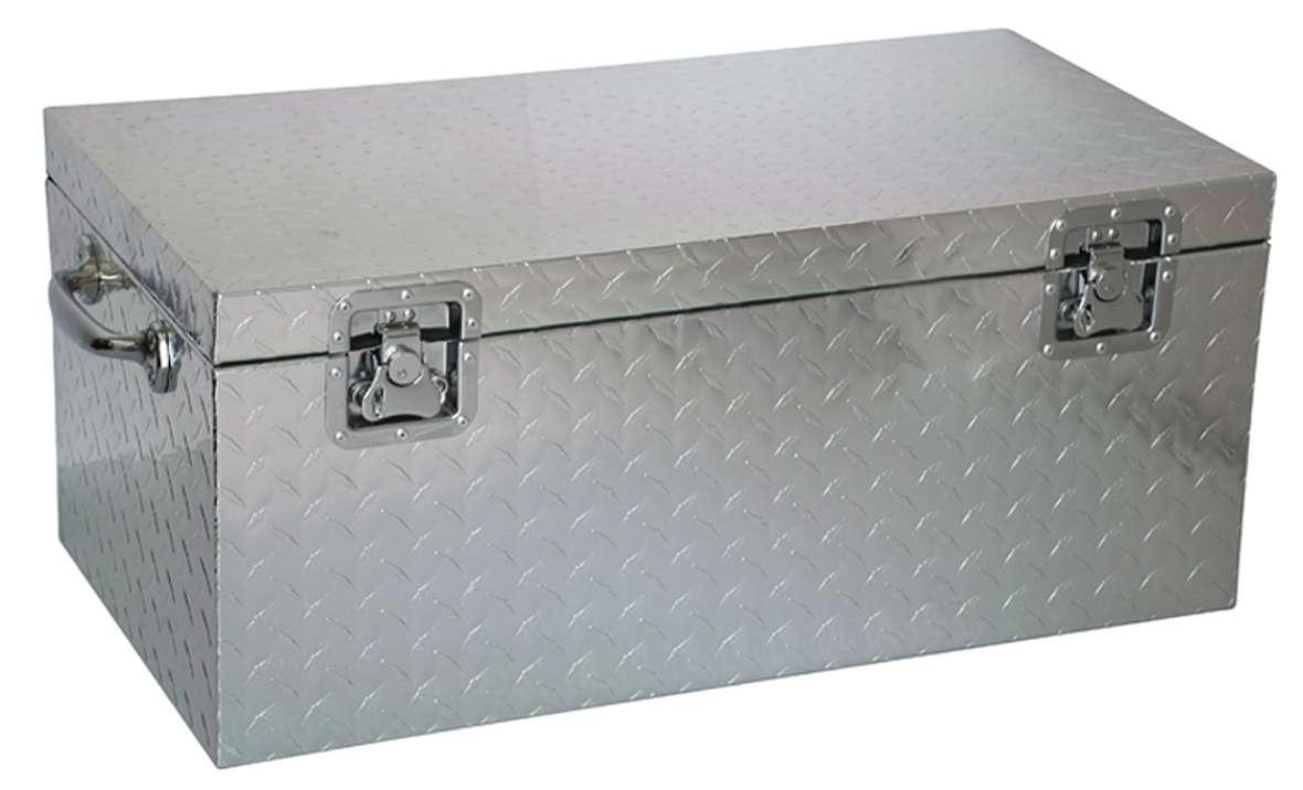 malle metallique aluminium de chantier cantine mal573727 alm 74149253 ebay. Black Bedroom Furniture Sets. Home Design Ideas