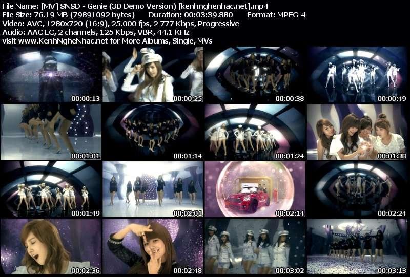 Download [MV] SNSD – Genie (3D Demo Version)